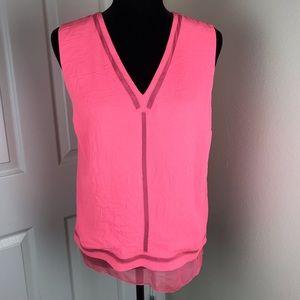 Elie Tahari pink silk lined tank top